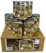 Cases of yoder's canned bacon