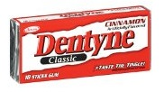 Dentyne gum for survival