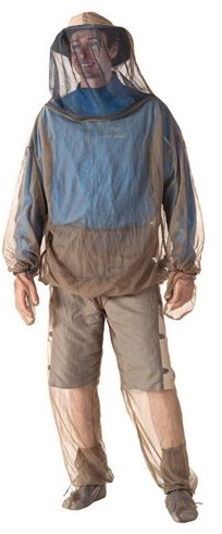 Mosquito netting on clothing to avoid West Nile Virus and other illness