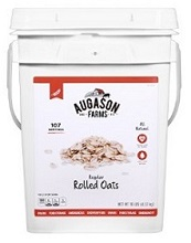 Rolled oats are inexpensive food storage