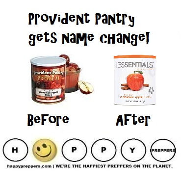 Provident Pantry is now Emergency Essentials