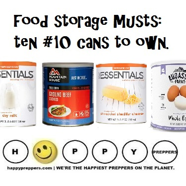 Ten #10 cans to own