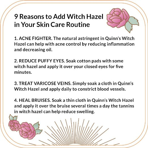 Reasons to use wtich hazel 1-4