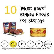 Ten must have canned foods for storage