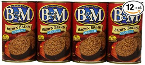 12 pack of Brown bread in a can
