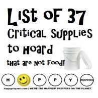 Things preppers should stockpile that are not food