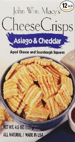 Cheese crisps - asiago and cheddar