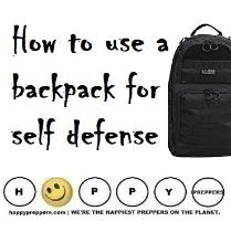 How to use a backpack for self-defense