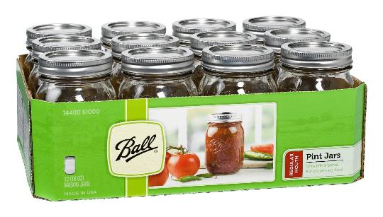 Ball jars with lids