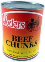 Yoder's Beef chunks - canned food lasts 10 years