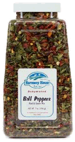 Harmony House Dried Bell Peppers (red and green peppers)