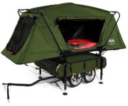 Bicycle camper trailer