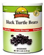 Black turtle beans in #10 can