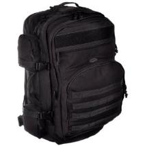 Black bugout bag is ideal