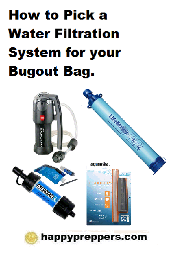 How to pick a Water Filtration System for your bugout bag