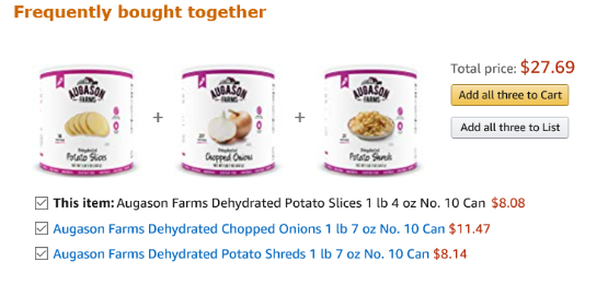 Frequently bought together Augason Farms #10 cans