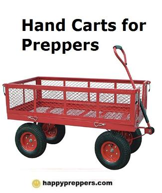 Hand trucks and carts for preppers