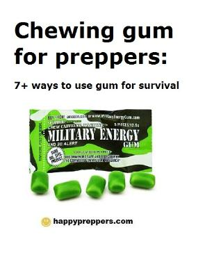 Chewing gum for survival