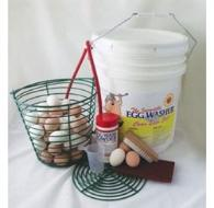 Egg washer makes cleaning a few dozen eggs quick and easy.