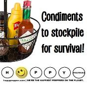 Condiments to stockpile for survival