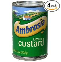 Prepper food custards and pudding in a can