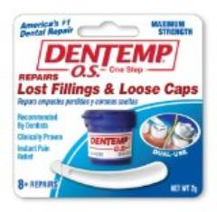 Dental temp loose fillings and caps