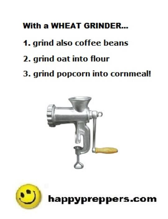 Wheat grinder is a multipurpose tool