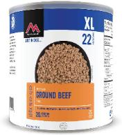 Mountain House can of Ground Beef
