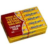 Juicy Fruit bulk gum for survival