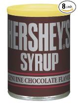 8 cans Hershey's syrup