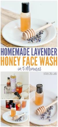 Homemade lavender honey face wash