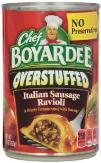 Chef boyarddee canned food favorite