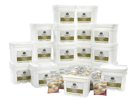 Legacy foods two year supply of food