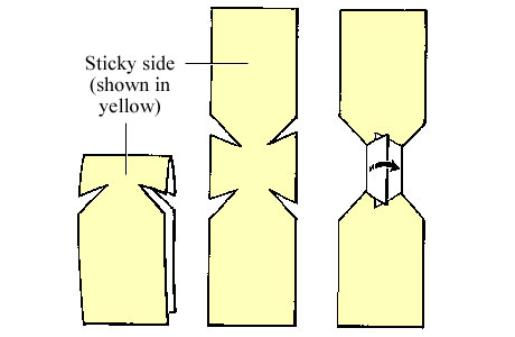 How to make a butterfly bandage from medical tape