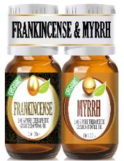 Orgaic frankincense and myrrh set
