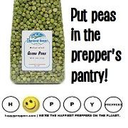 Put peas in the prepper's pantry