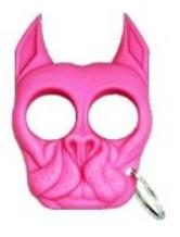 Pink bulldog key ring for survival