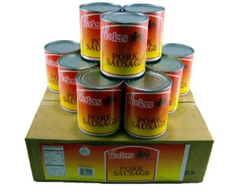 Yoders canned pork sausage