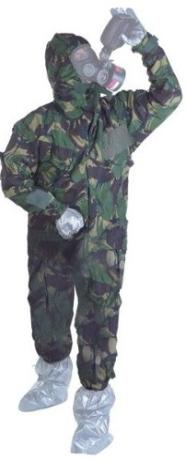 Full protective suit for advanced preppers