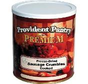 Freeze dried sausage crumbles