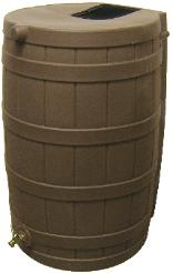 Rain Wizard Rain Barrel 50 Gallon, Oak