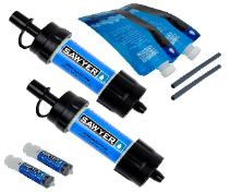 Sawyer two pack water filtration system