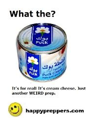 Puck Cream Cheese in a can