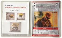 Pocket-sized smoke escape mask