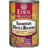Spanish rice and beans in a can