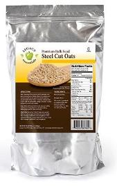 Steel cut oats have a 15-year shelf life