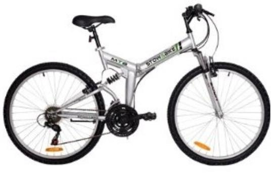 Stow a bike - available in silver or black