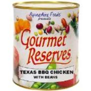 Gourmet Reserves texas BBQ chicken emergency food