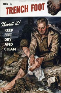 Vintage trench foot ad from the military