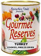 Freeze dried turkey
